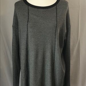 J Jill Black & White Pattern Long Sleeve Top- XL